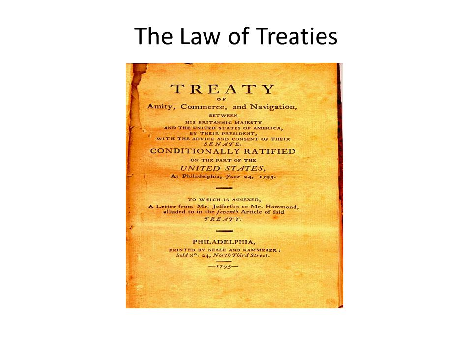 The Law of Treaties