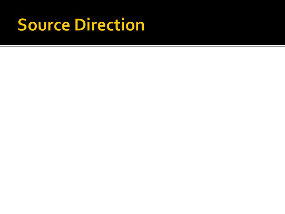 Source Direction