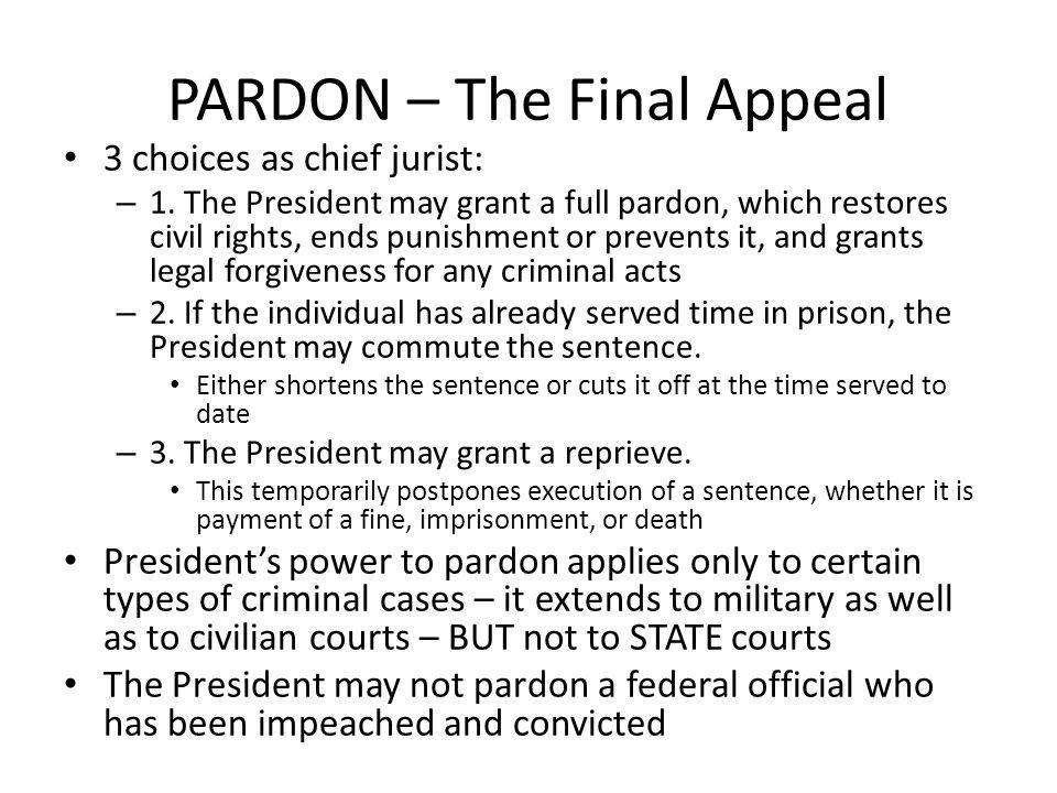 PARDON – The Final Appeal