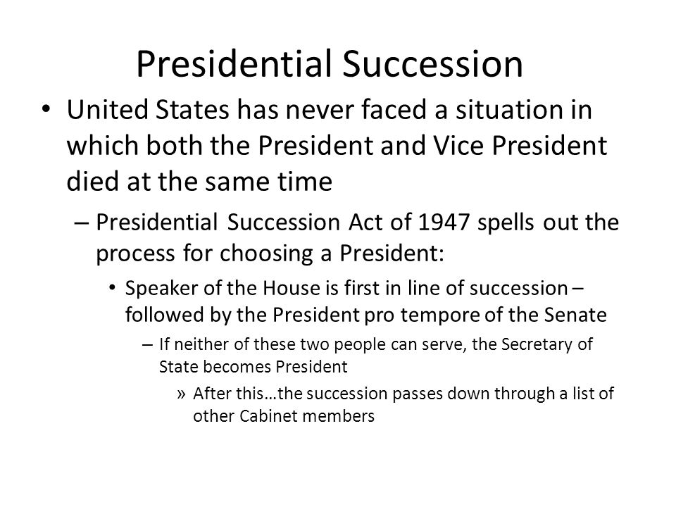 Chapter 11: The Executive Branch. - ppt download
