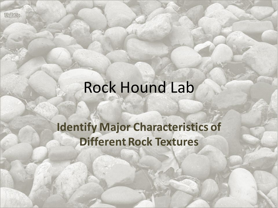 Identify Major Characteristics of Different Rock Textures