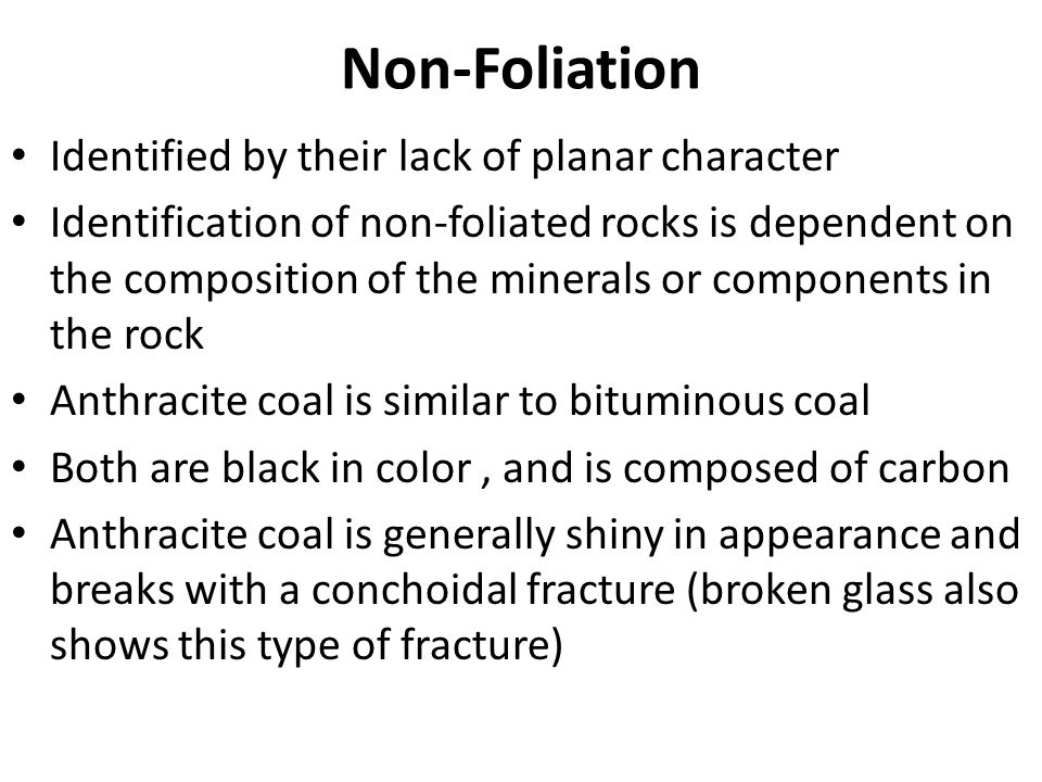 Non-Foliation Identified by their lack of planar character