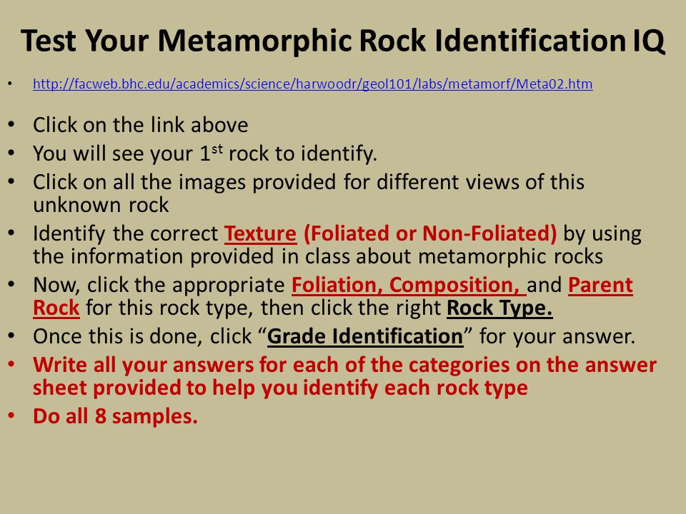 Test Your Metamorphic Rock Identification IQ