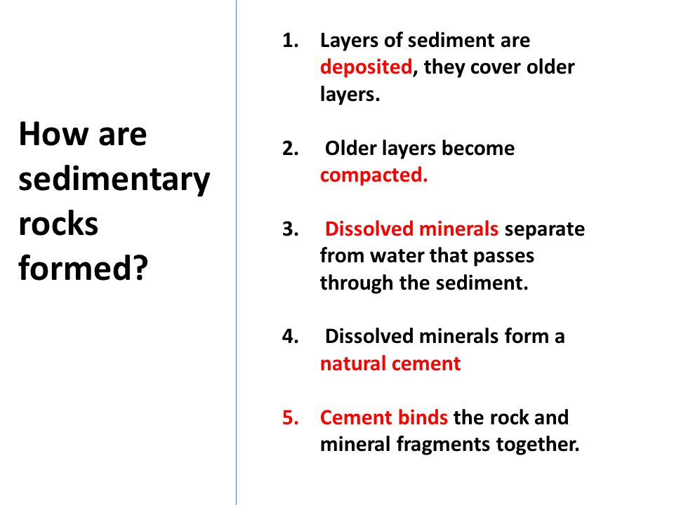 How are sedimentary rocks formed