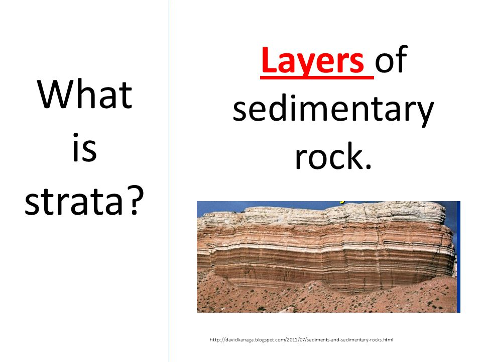Layers of sedimentary rock.