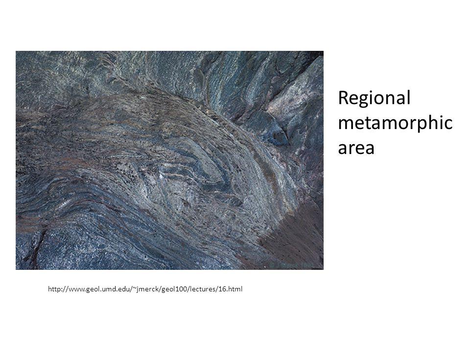 Regional metamorphic area