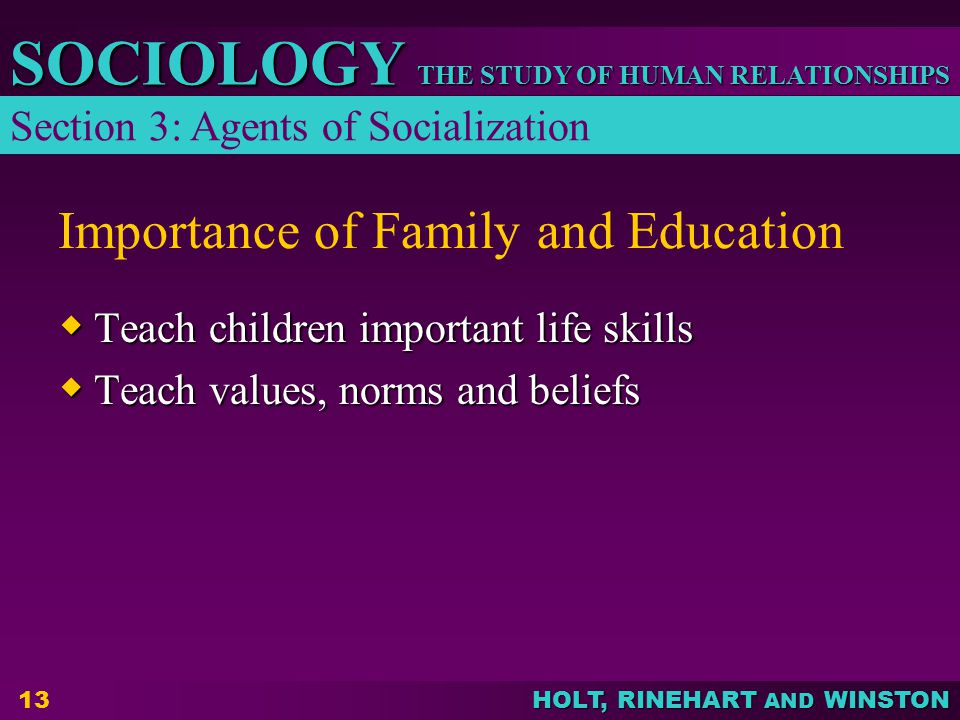 the importance of family and education in life About us why the family life education institute we recognized the need to strengthen marriages and families the value and importance of family life education in promoting a healthy society is becoming increasingly evident.
