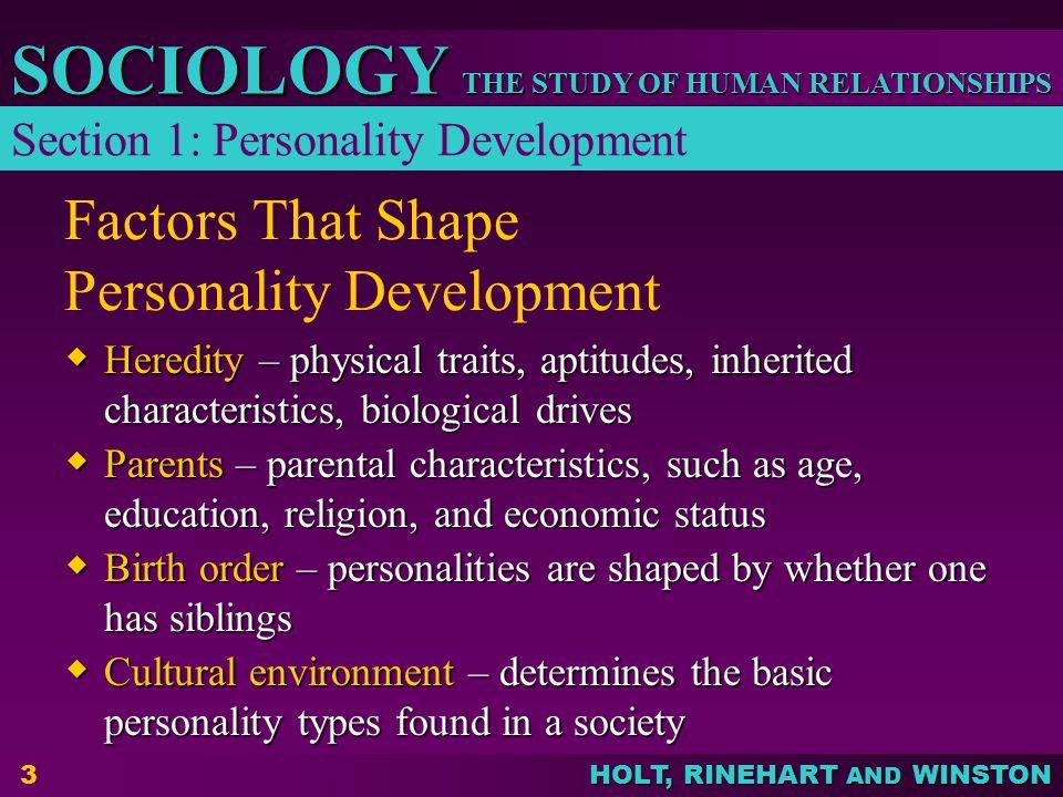 Factors That Shape Personality Development