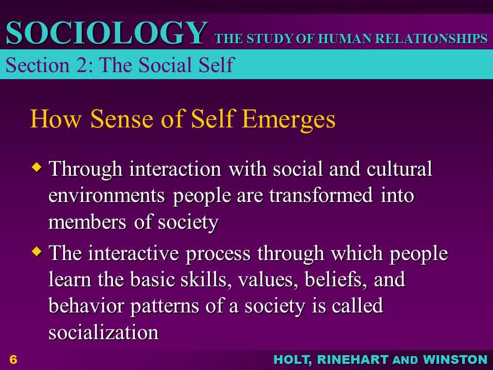 How Sense of Self Emerges