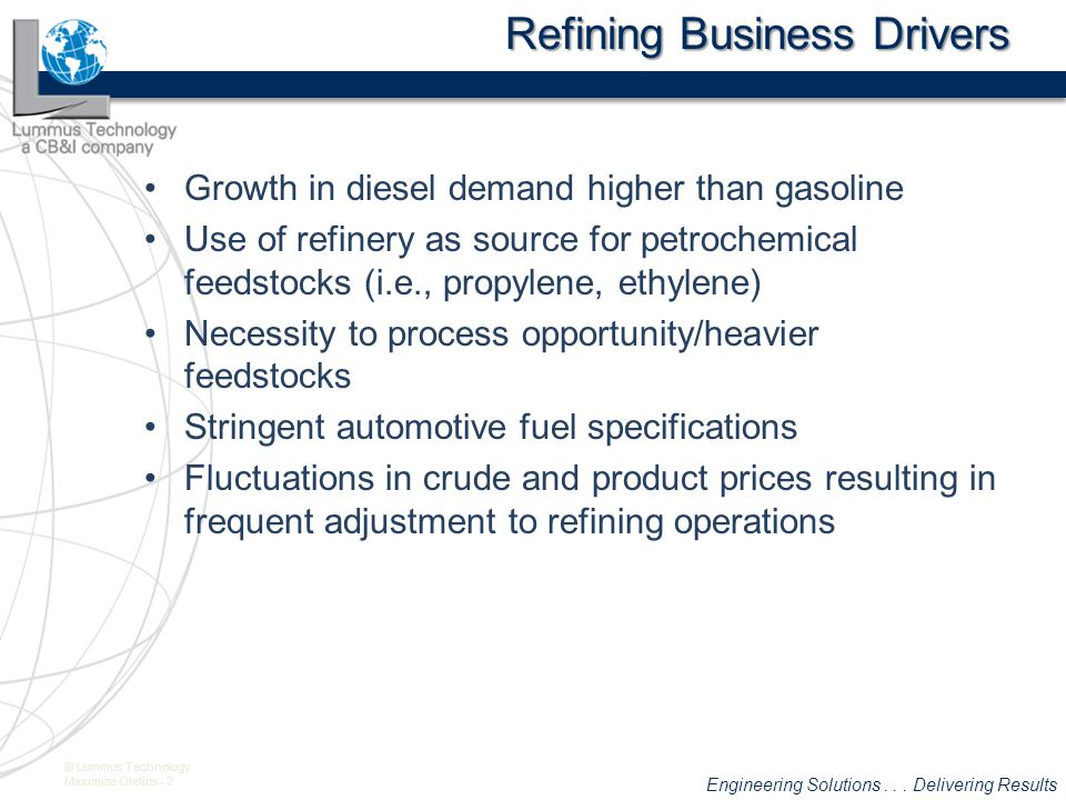 Refining Business Drivers