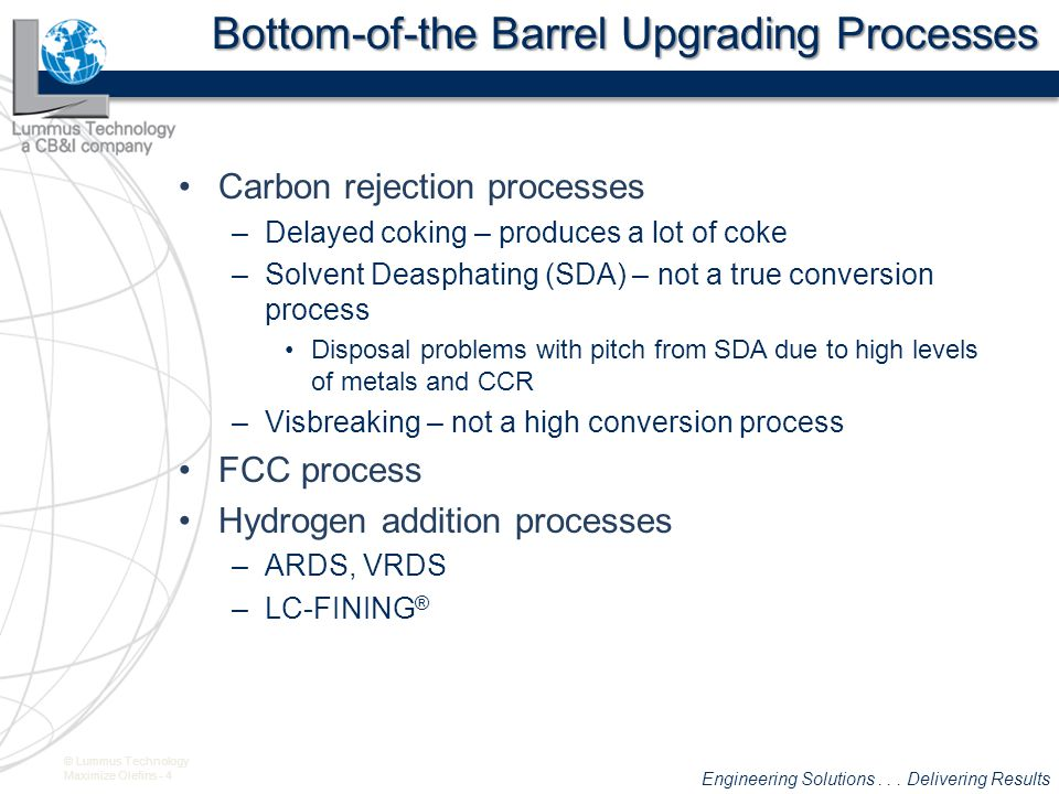 Bottom-of-the Barrel Upgrading Processes