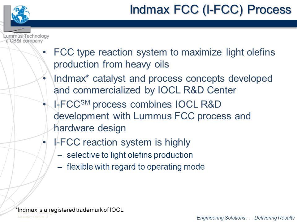 Indmax FCC (I-FCC) Process