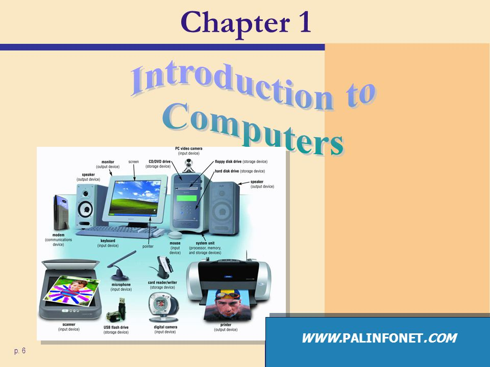 Chapter 1 Introduction to Computers WWW.PALINFONET.COM p. 6