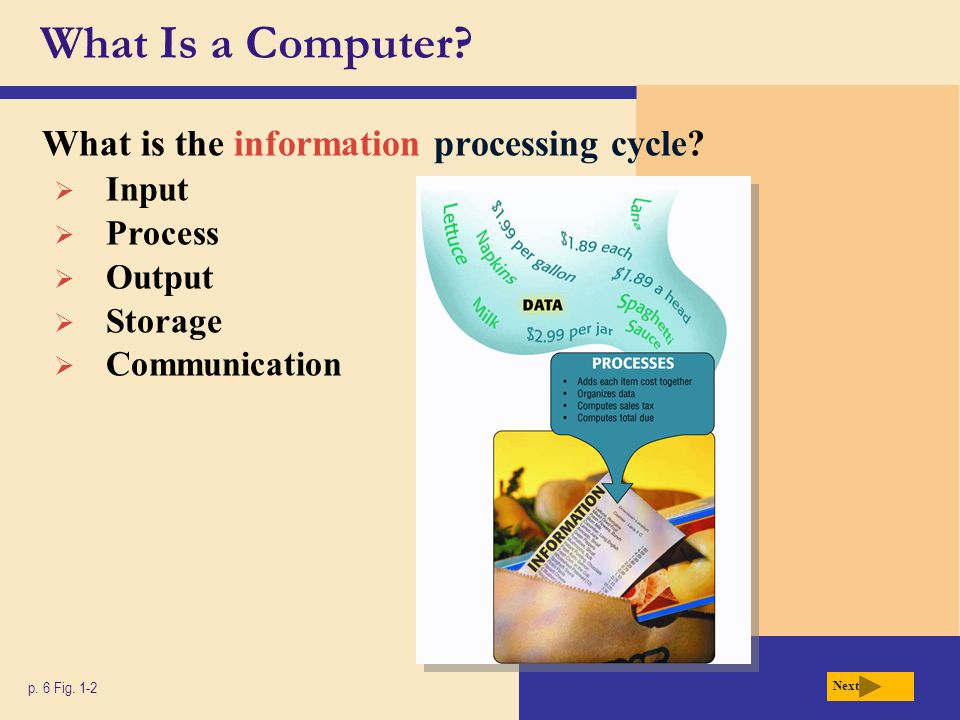 What Is a Computer What is the information processing cycle Input