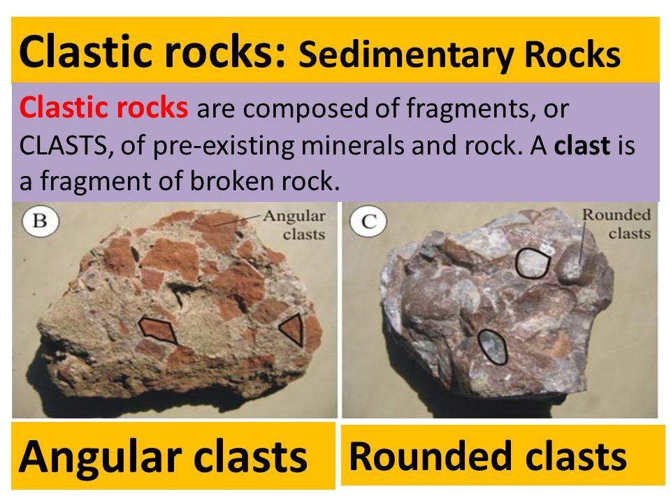 Clastic rocks: Sedimentary Rocks
