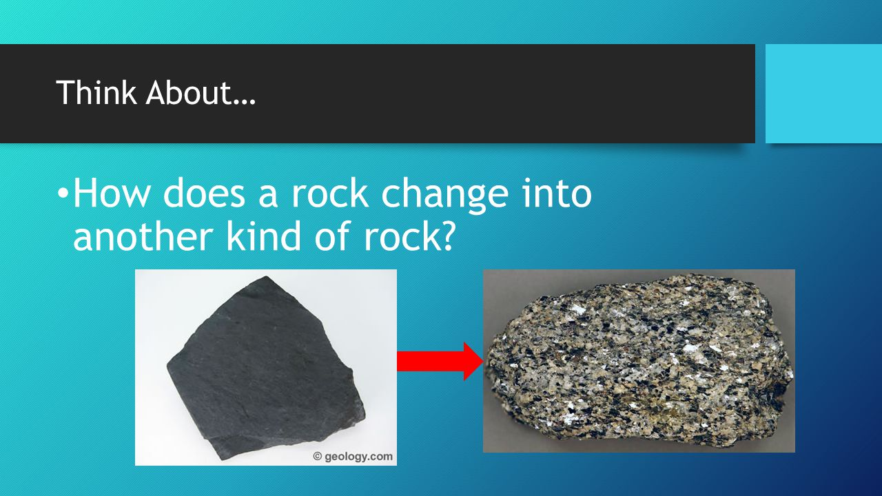 How does a rock change into another kind of rock