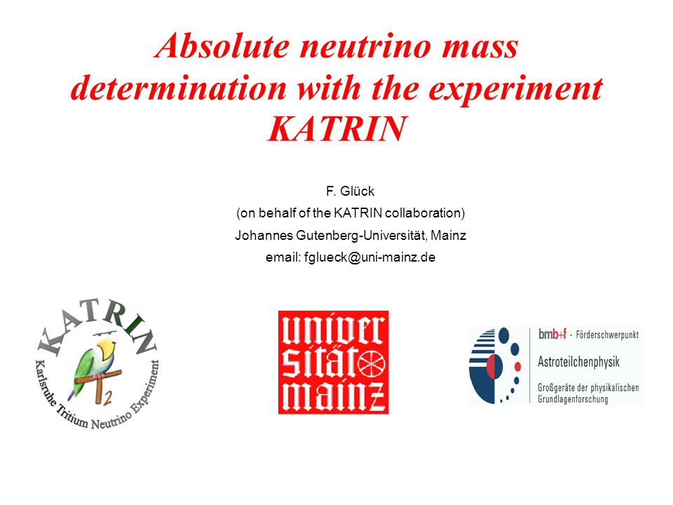 Absolute neutrino mass determination with the experiment KATRIN