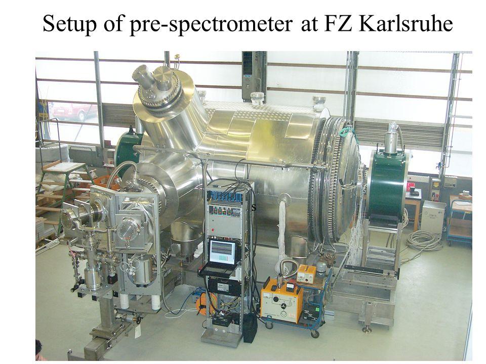 Setup of pre-spectrometer at FZ Karlsruhe