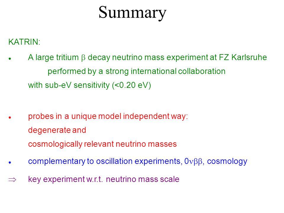 Summary KATRIN: