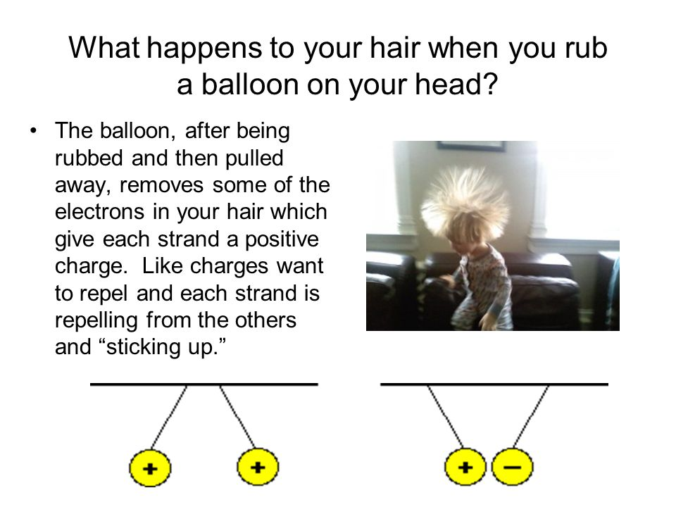 What happens to your hair when you rub a balloon on your head