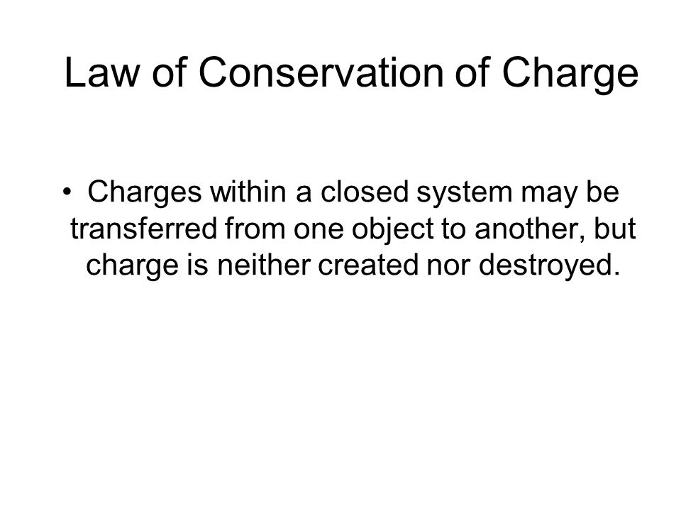 Law of Conservation of Charge