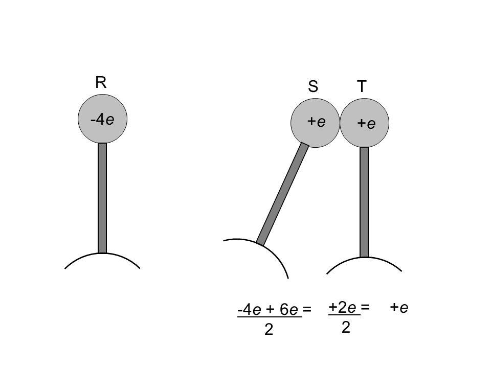 R S T -4e 0e -8e -4e +e +6e +e -4e + 6e = 2 +2e = 2 +e