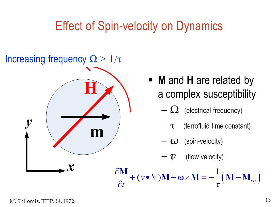 Effect of Spin-velocity on Dynamics