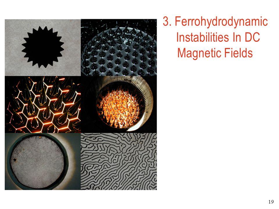 3. Ferrohydrodynamic Instabilities In DC Magnetic Fields