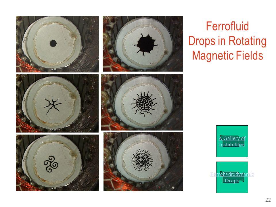 Ferrofluid Drops in Rotating Magnetic Fields