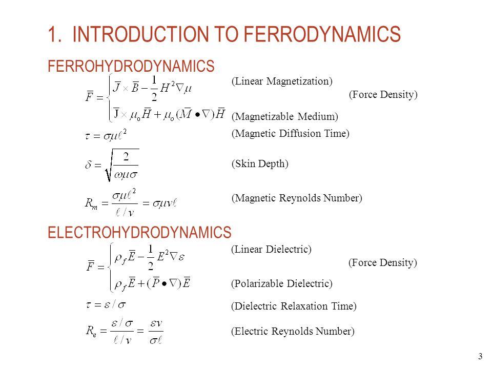 1. INTRODUCTION TO FERRODYNAMICS