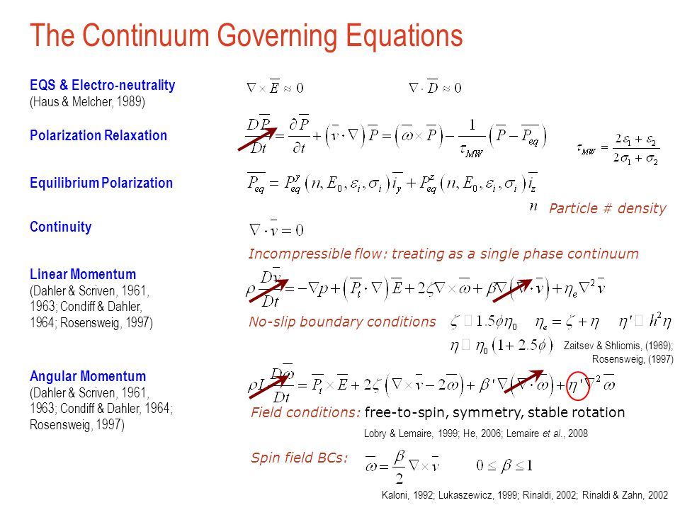 The Continuum Governing Equations