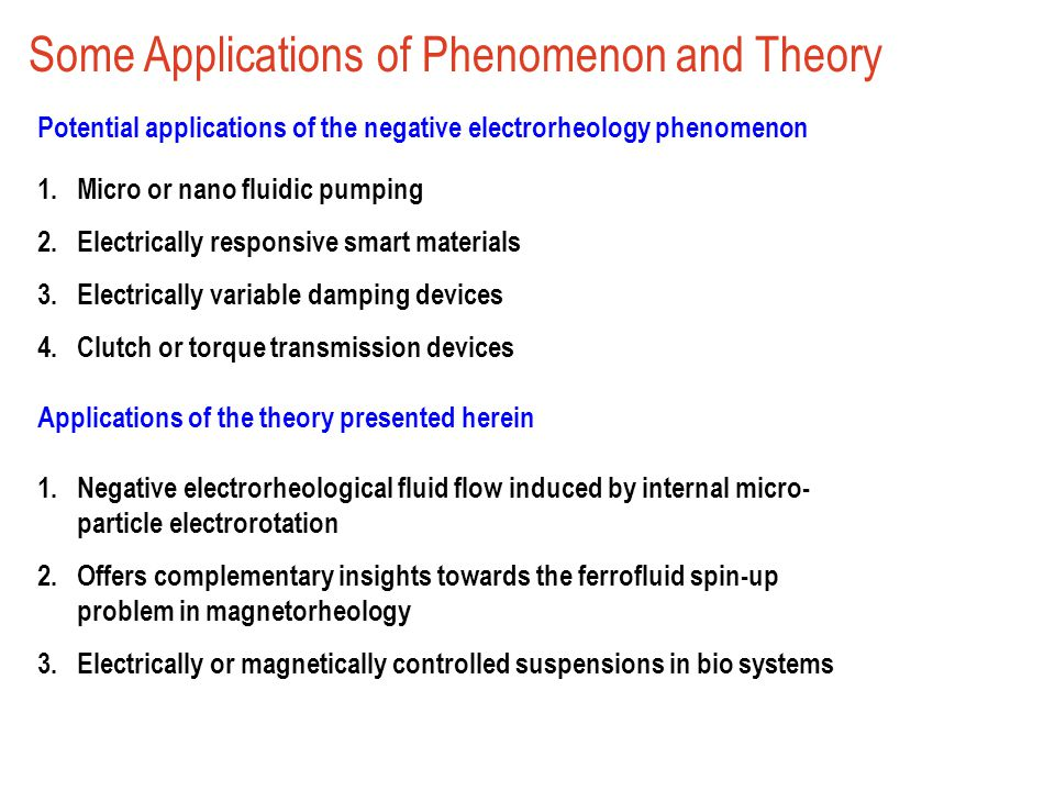 Some Applications of Phenomenon and Theory