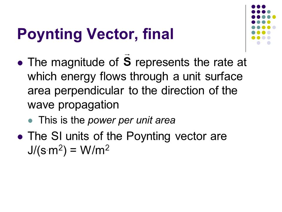 Poynting Vector, final