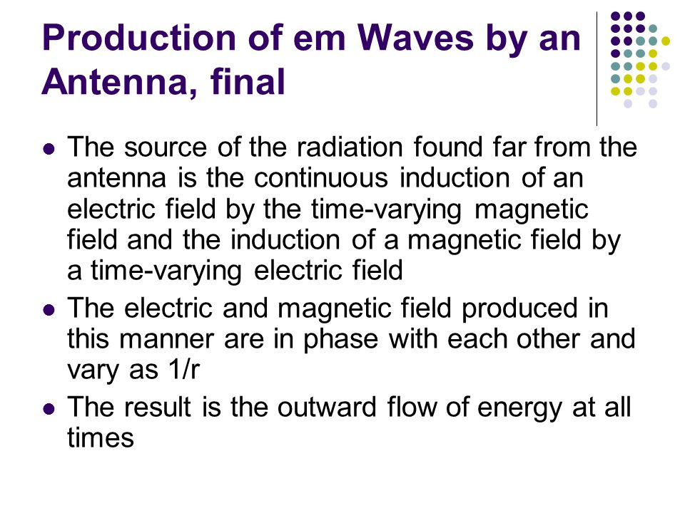 Production of em Waves by an Antenna, final