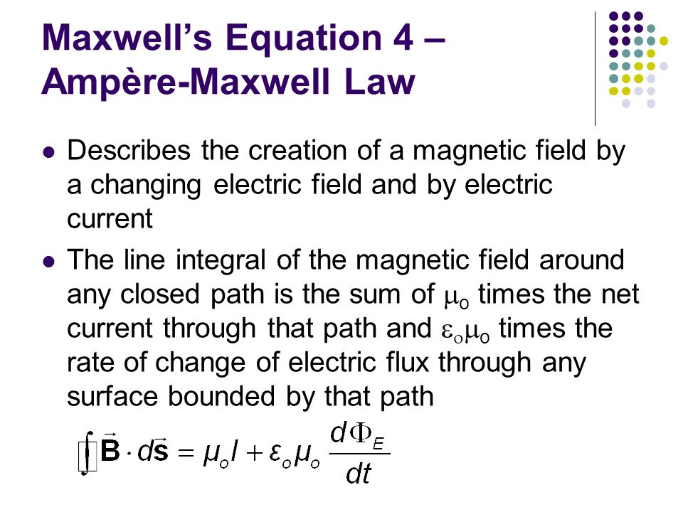 Maxwell's Equation 4 – Ampère-Maxwell Law