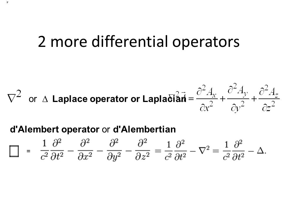 2 more differential operators