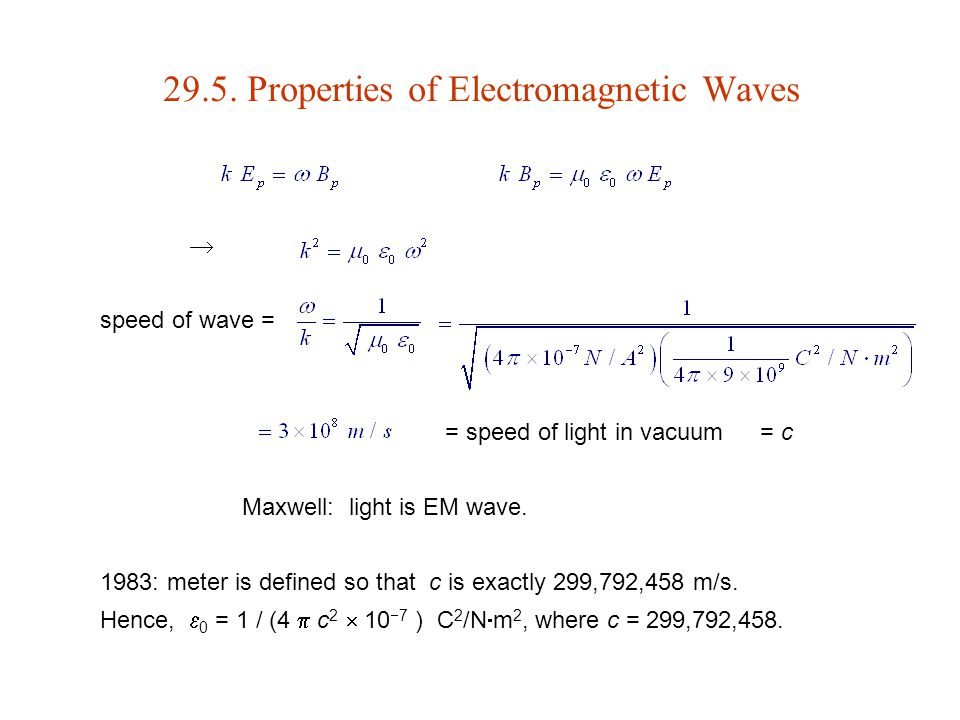 29.5. Properties of Electromagnetic Waves