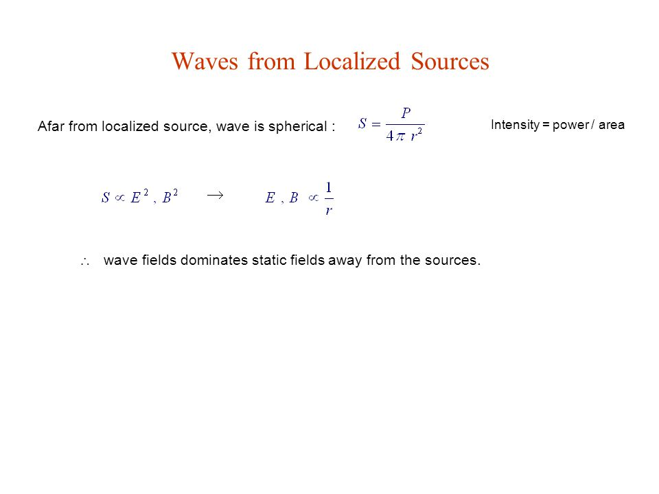 Waves from Localized Sources