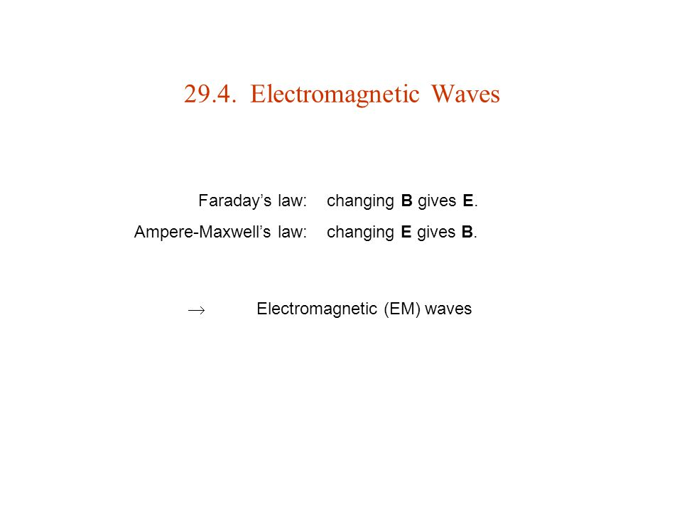 29.4. Electromagnetic Waves