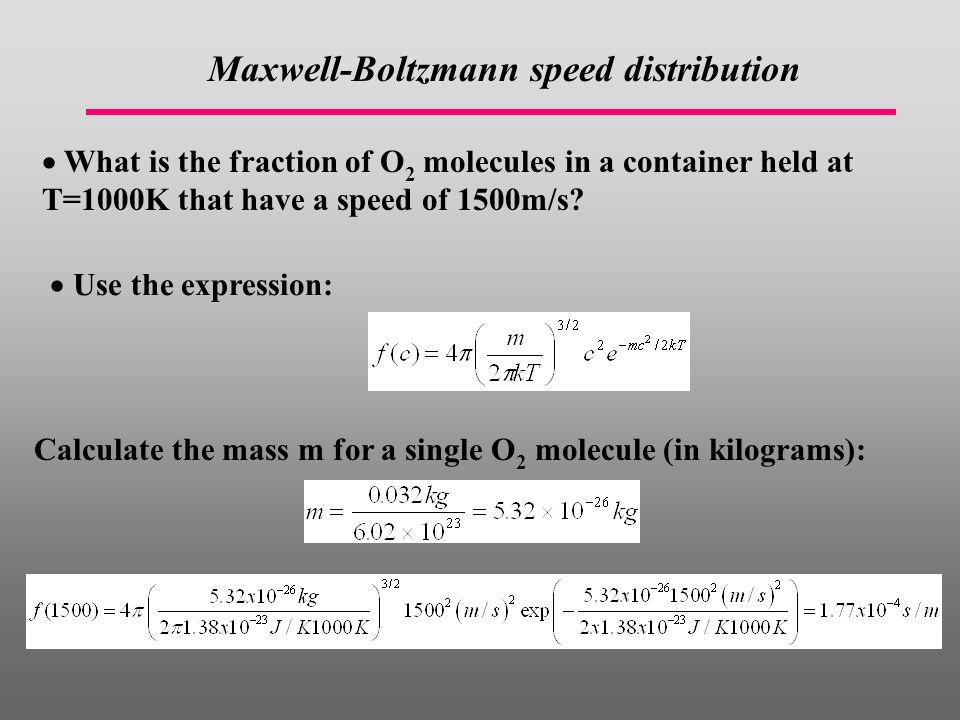 Maxwell-Boltzmann speed distribution
