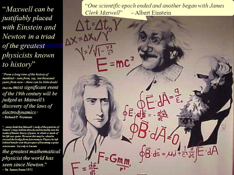 One scientific epoch ended and another began with James Clerk Maxwell – Albert Einstein
