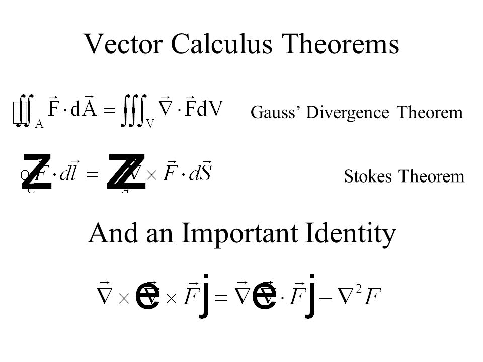 Vector Calculus Theorems