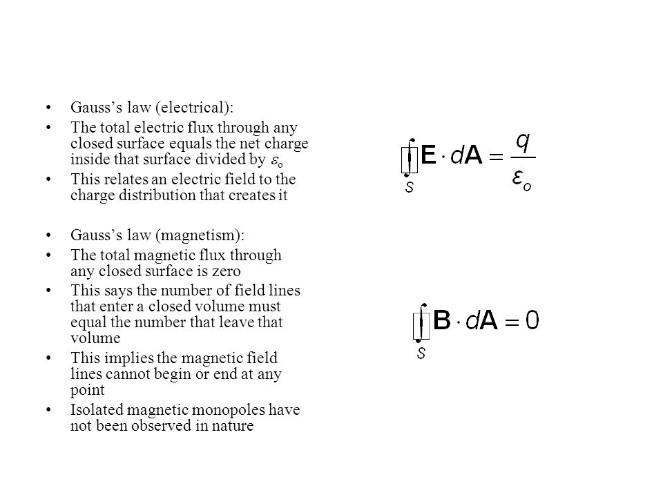Gauss's law (electrical):