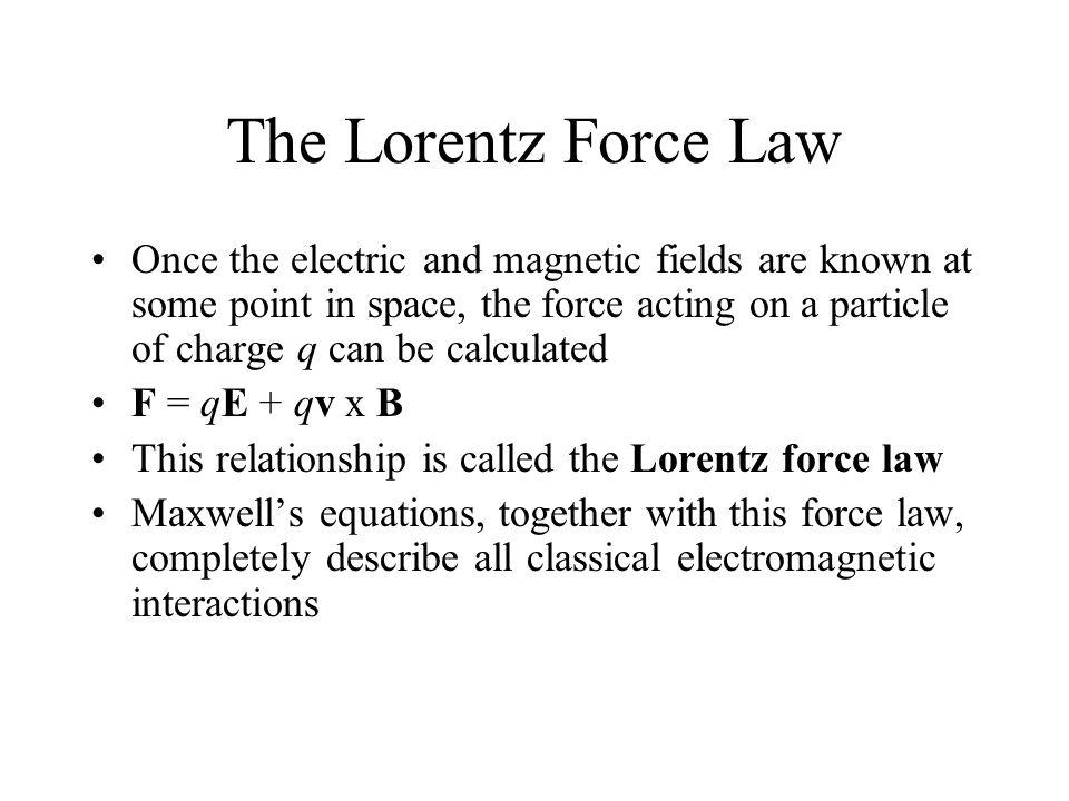 The Lorentz Force Law
