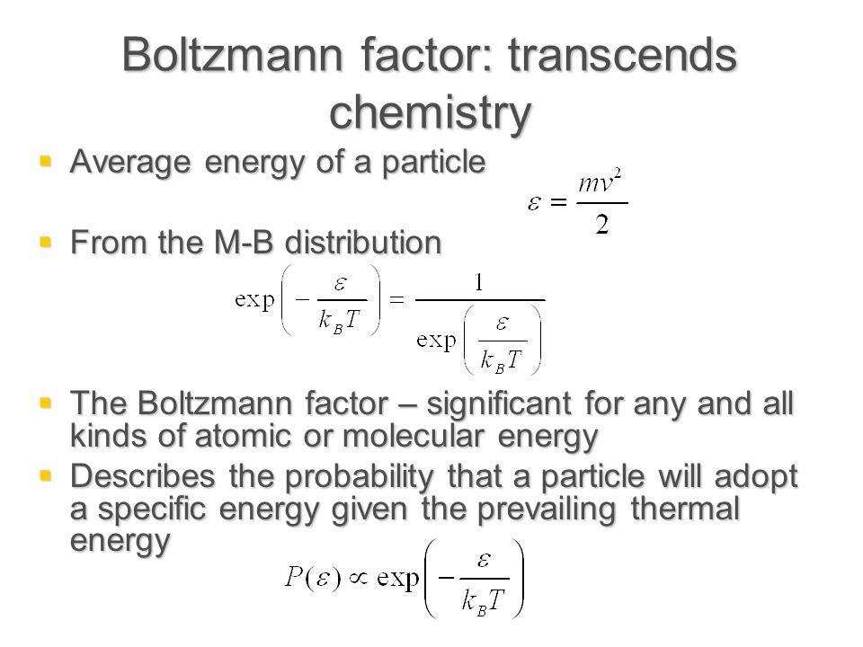 Boltzmann factor: transcends chemistry