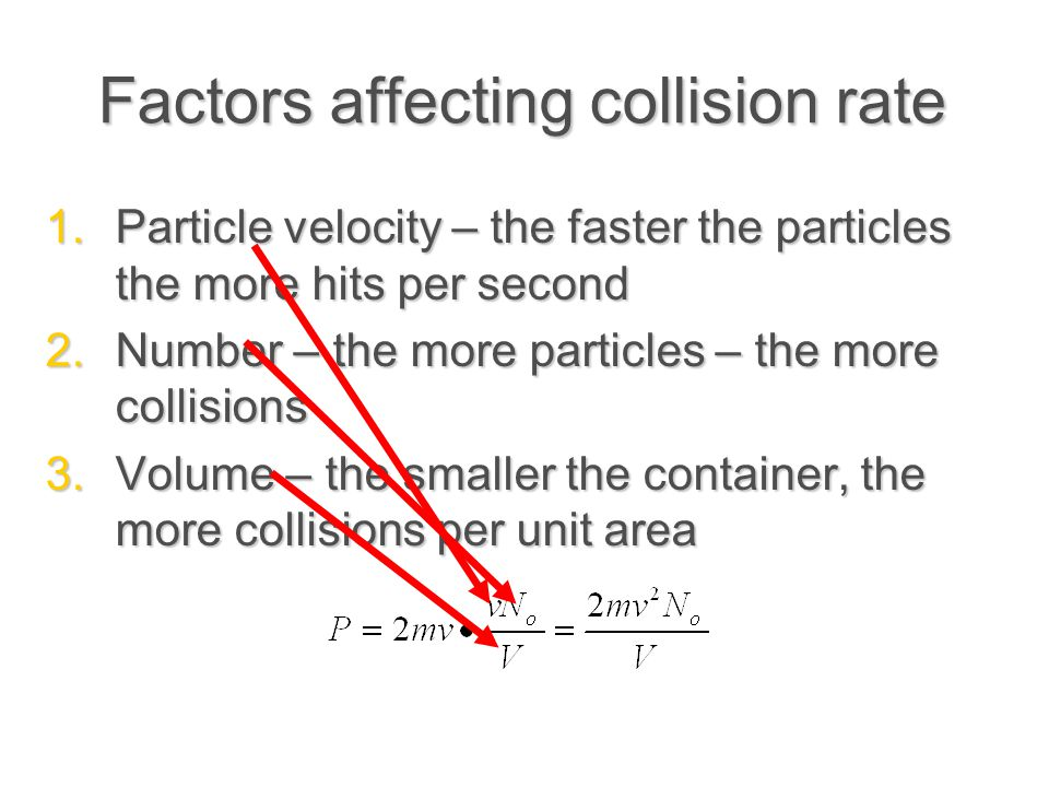 Factors affecting collision rate
