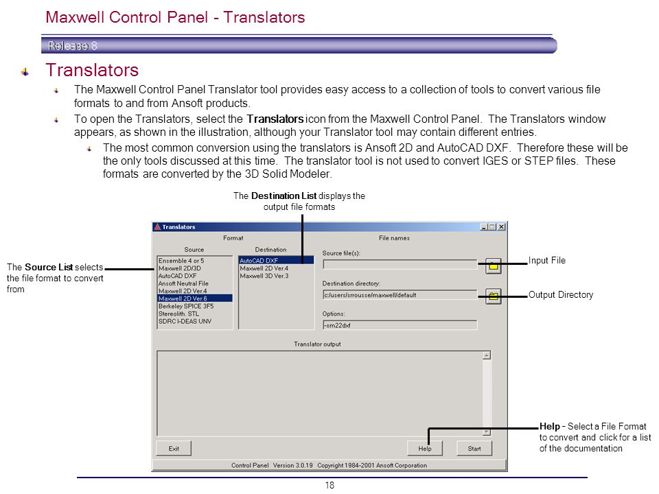 Maxwell Control Panel - Translators