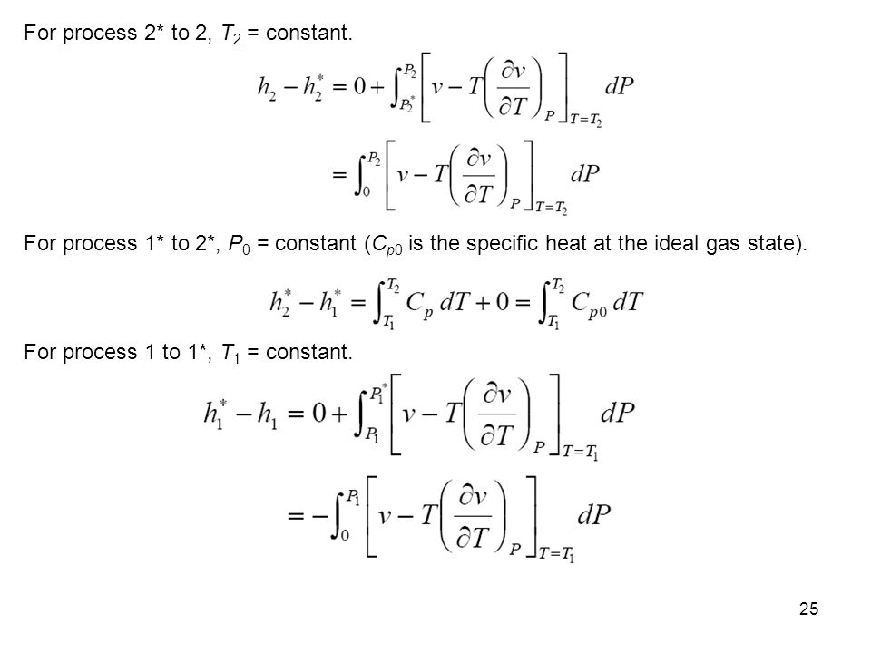 For process 2* to 2, T2 = constant.