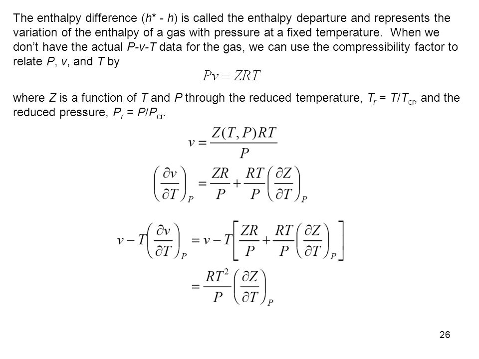 The enthalpy difference (h