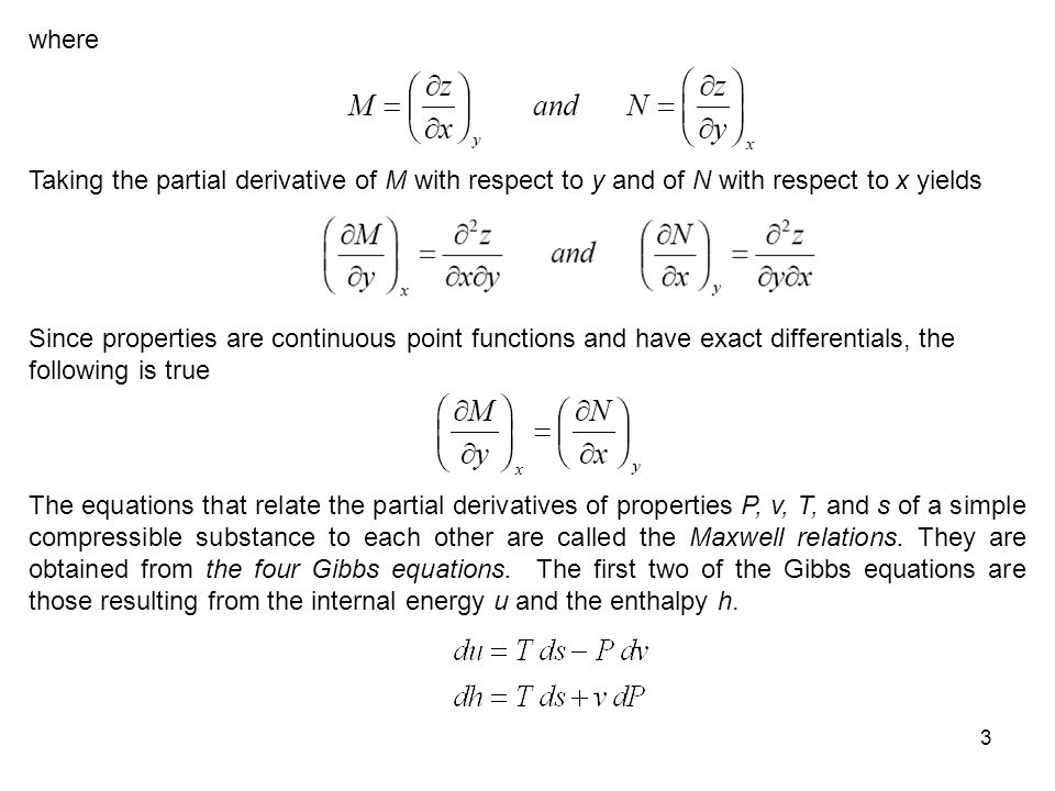 where Taking the partial derivative of M with respect to y and of N with respect to x yields.